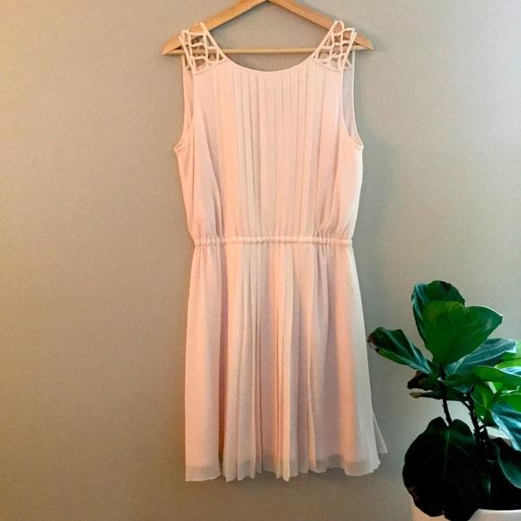 Semi-formal, blush dress
